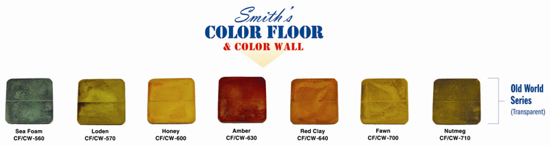 Smith's Color Floor Old World Series Color Chart
