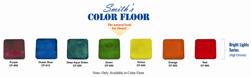 Smith's Color Floor Bright Lights Series Color Chart