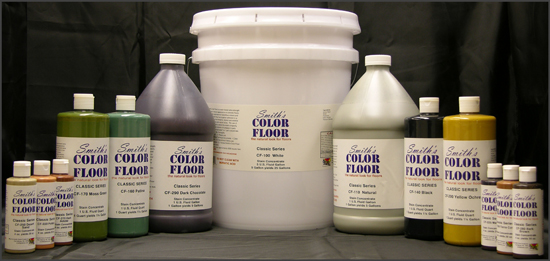 Various size of Smith's Color Floor Concrete Stain