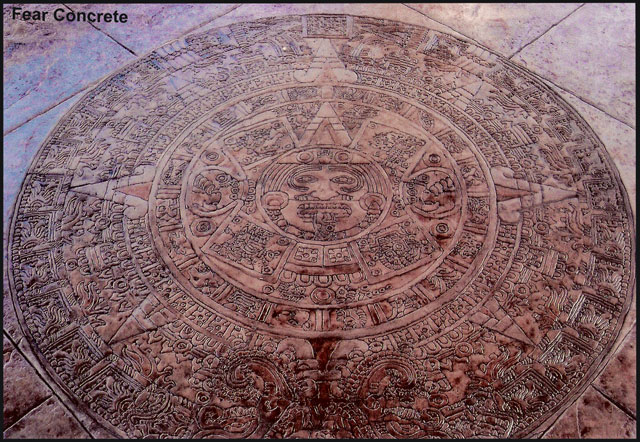 Aztec Calendar Concrete Stamp Pacific Concrete Images